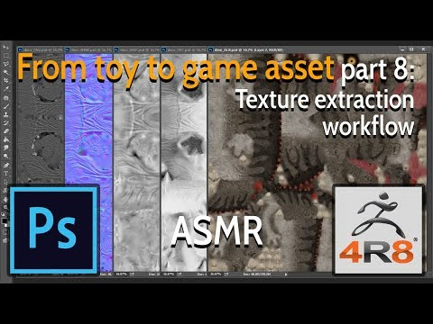 From toy to game asset - Part 8: Texture extraction workflow - ASMR