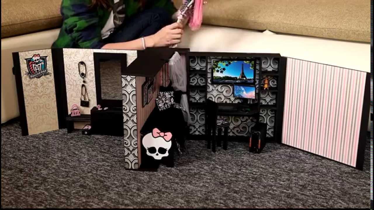 Как делать дом для кукол монстер хай видео