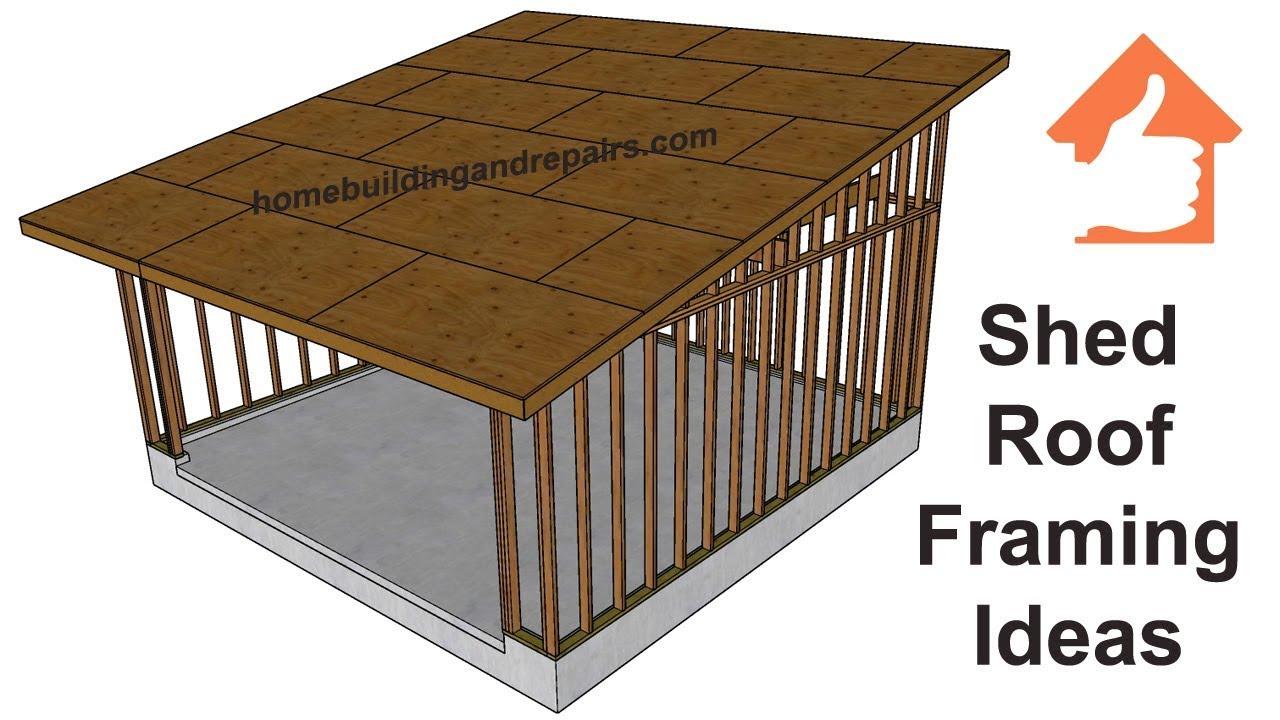 Sloped Roof Framing Framexwall