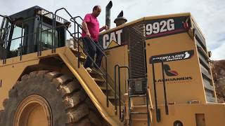 Cat 992G Wheel Loader Loading And Operator View - Sotiriadis Brothers
