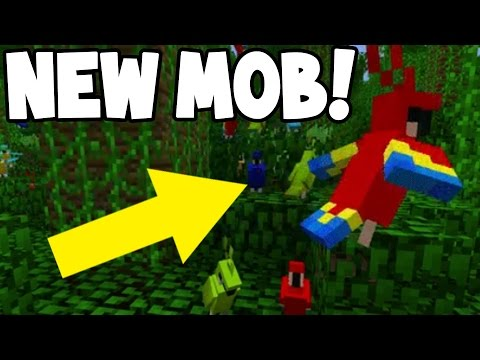 NEW PARROT BIRD MOB! Coming to Minecraft! (Gameplay)