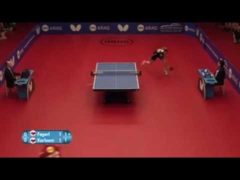 Pertandingan tenis meja paling seru
