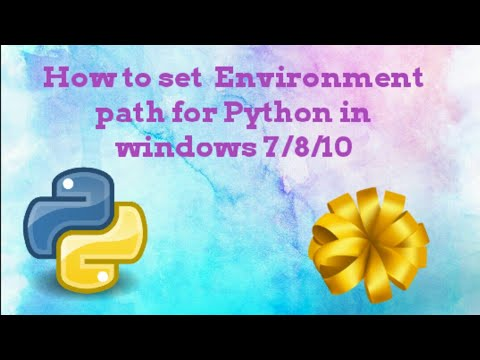 How to Add Python Path to Environment Variables in Windows 7    Tamil