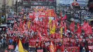 Labor Day 2015 Filipino Workers Marched for  Aquino Resignation