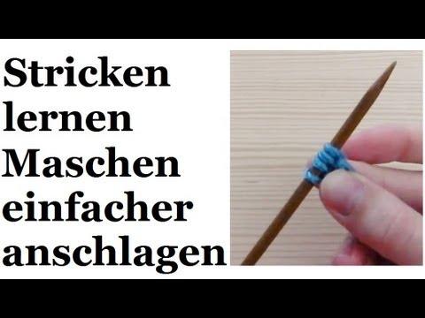 Stricken lernen – vereinfachter Maschenanschlag für Linkshänder