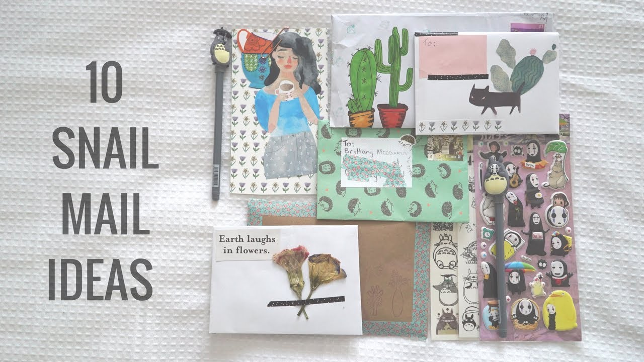 10 Penpal Snail Mail Ideas Youtube