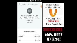 VEEU Apps 2019 Review & Proof Real Cash 15 to 30$ Per Week Tutorial Tagalog