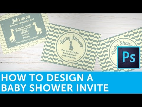 How To Design A Baby Shower Invitation In Adobe Photoshop   Solopress Tutorial from YouTube · Duration:  5 minutes 39 seconds