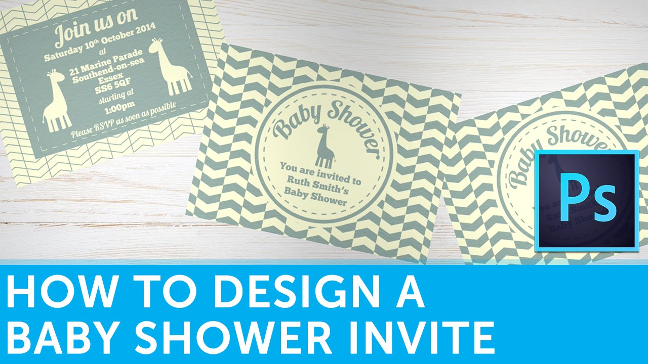 How To Design A Baby Shower Invitation In Adobe Photoshop
