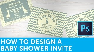 How To Design A Baby Shower Invitation In Adobe Photoshop | Solopress Tutorial