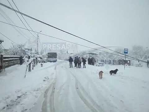 Drum blocat de fire cazute la pamant in Satu Mare