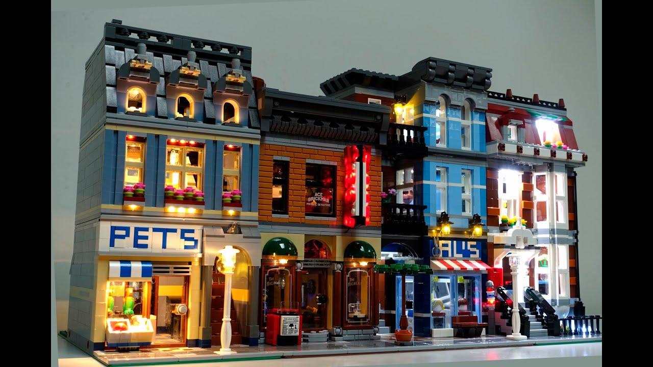 Lego 10218 Pet Shop 10246 Detective Office Led Lights