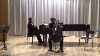 Шуман  3 Пьесы для виолончели и фортепиано