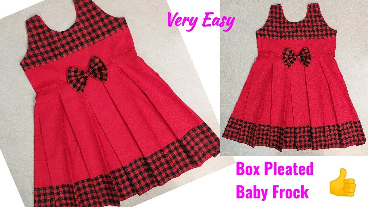 Box Pleated Baby Frock Cutting and Stitching Baby Frock Cutting and Stitching Baby Frock Designs