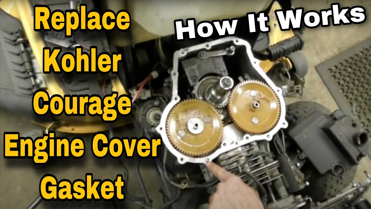 Oil Gasket Leak >> How To Replace The Engine Cover Gasket On A Kohler Courage - with Taryl - YouTube
