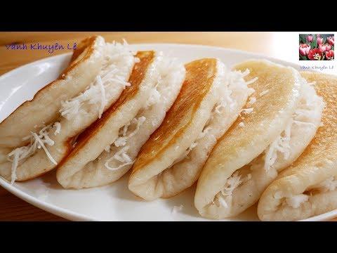 BÁNH BÒ DỪA nướng CHẢO - Cách làm món Bánh Bò Dừa Rễ Tre tuổi thơ thơm ngon mềm Xốp by Vanh Khuyen