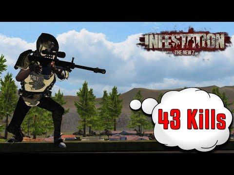 Infestation The New Z : Jogando De Sniper no Spring Valley V1 - ( 43 Kills - Server EU  )