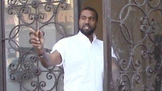 Kanye West Runs Errands In Beverly Hills