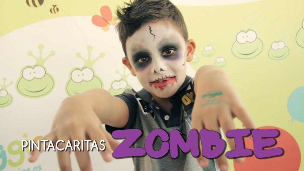 Pintacaritas Zombie Halloween// Zombie Facepainting