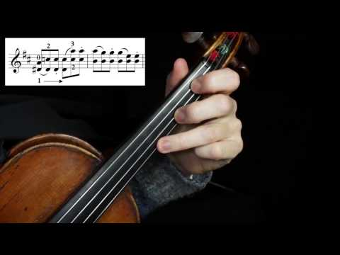 Seitz Concerto No.5 in D Major 3rd Movement Tutorial (tricky double stops) (Spanish subtitles)