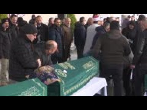 Erdogan at funeral of 9 from same family killed in collapse