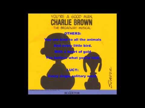 You're A Good Man, Charlie Brown-Opening (Lyrics)