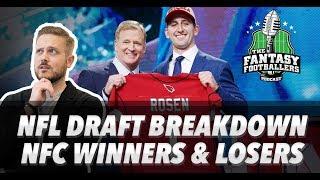 Fantasy Football 2018 - NFL Draft Breakdown: NFC Winners & Losers - Ep. #545