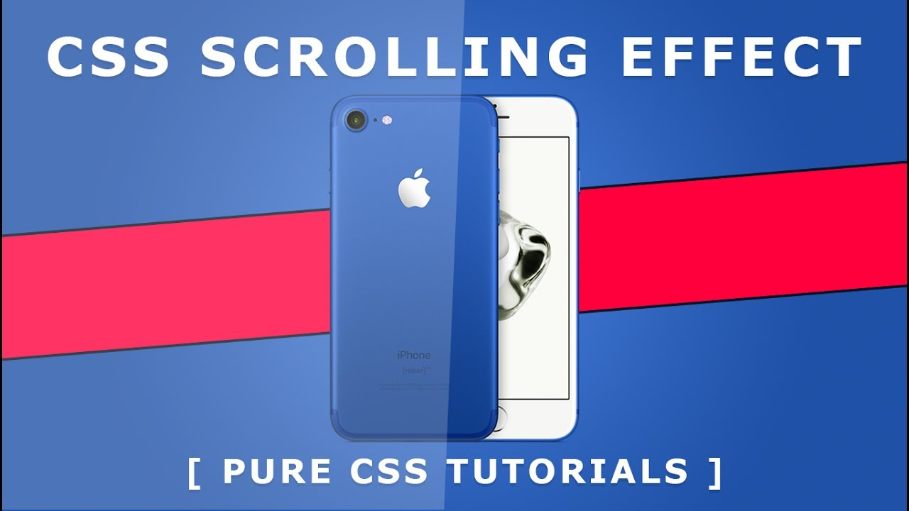 CSS Fixed Background Scrolling Effect - Pure Css Tutorials