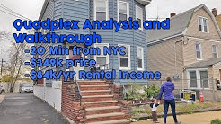 Real Estate Investment Property Analysis and Walkthrough | Quadplex 20 minutes from NYC