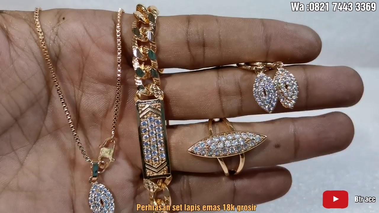 Set Perhiasan lapis emas xuping 18k grosir wa ...