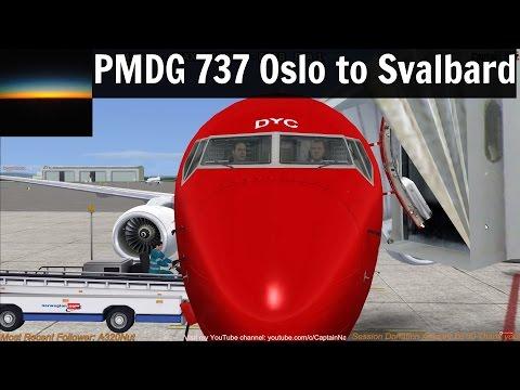 [FSX] PMDG 737 NGX | Oslo (ENGM) to Svalbard (ENSB) Part 1