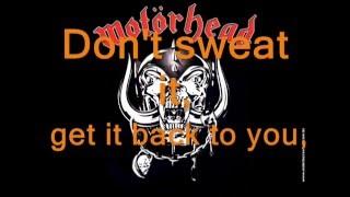 Motorhead Overkill lyrics