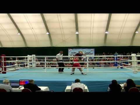 2018-29-05.საბა ტყებუჩავას ფინალური - ოქროსთვის- ბრძოლა კრივში ევროპირველობაზე ბულგარეთის ქ.ალბენაში