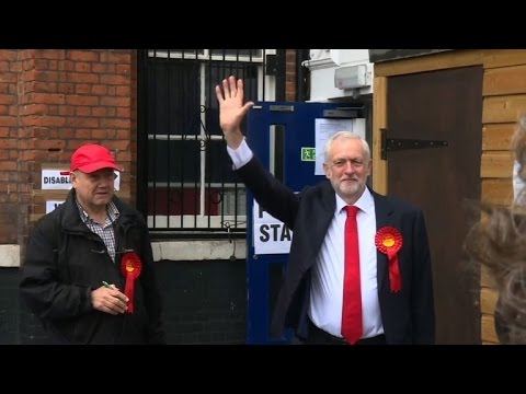 Party leaders cast ballots in UK snap election