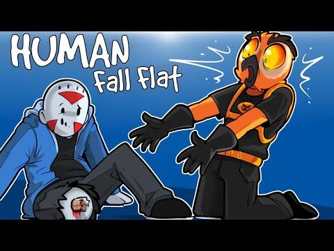 Human Fall Flat - I LOST MY LEG ON A CUSTOM MAP! (Funny Moments)