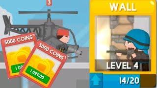 Обновление Clone Armies New equipment Wall! Новое оборудование стена! игры на андроид