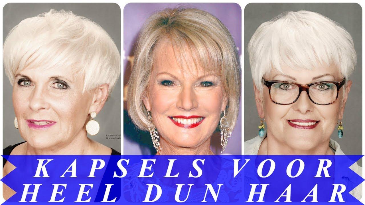 Uitzonderlijk Kapsels voor oudere dames met dun haar - YouTube #PT48