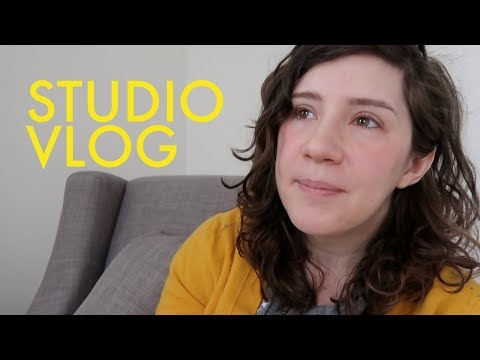 Studio Vlog | Updating my portfolio, recent work, and respon