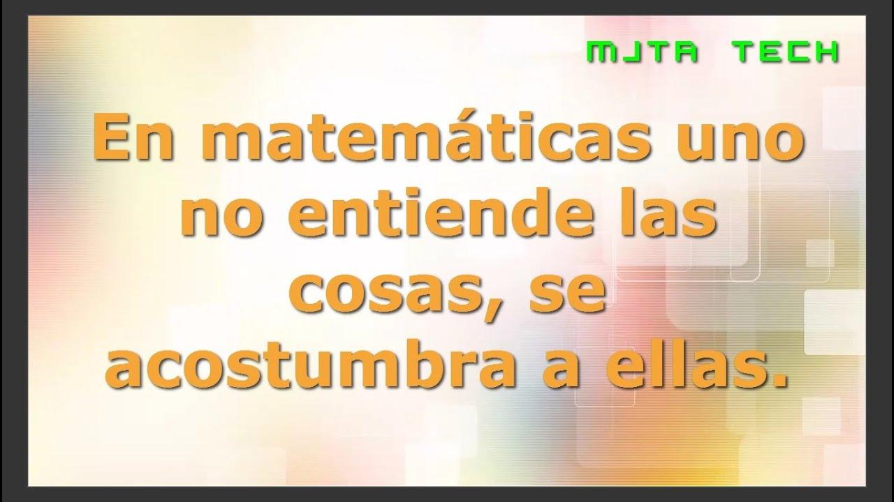 10 Frases Matemáticas