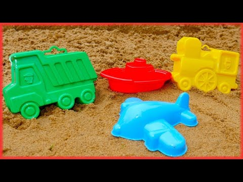 Thumbnail: Vehicles for kids. Learn colors 🖌️ with mud pies. Video for children & Games for kids on #PlayTime.