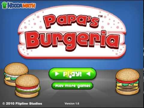 Hooda Math Papa S Burgeria With Daniel Youtube