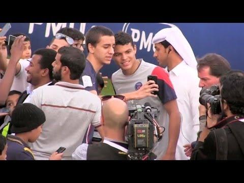Paris Saint Germain Team training at Doha on Quatar