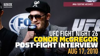 MMA Fighting Archives: Conor McGregor Gives Post-Fight Interview Following Max Holloway Win