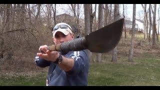 DIY Survival Walking Stick Spear