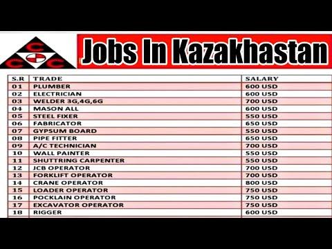 Jobs In Kazakhstan 🇰🇿 2021 ¦¦ Salary In US $ Dollar ¦¦ CV Selection ¦¦ Gulf Updates