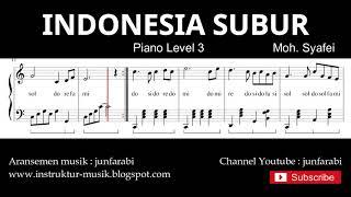 indonesia subur not balok piano level 3 - lagu wajib nasional