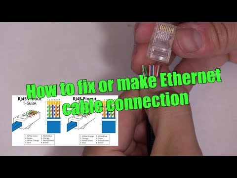 HOW TO MAKE / FIX ETHERNET CAT6 PATCH CABLE WIRE RJ45 CONNECTION