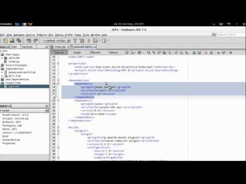 Netbeans. Crear Proyecto Maven Web