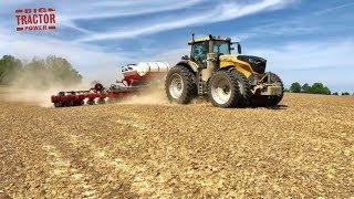 10 mph Corn Planting Challenger Tractor WHITE 9800VE Part 1