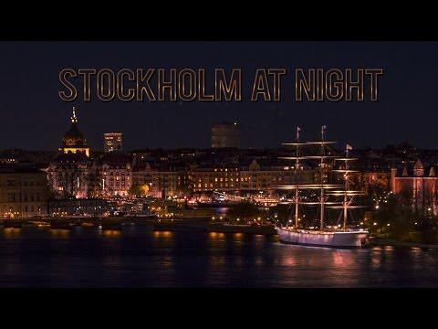 Stockholm at Night: Time Lapse